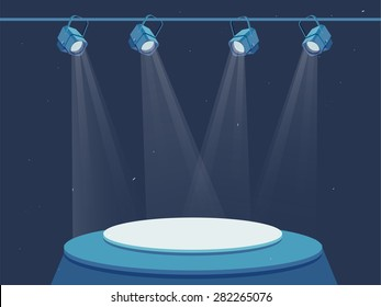 stage lighting studio vector