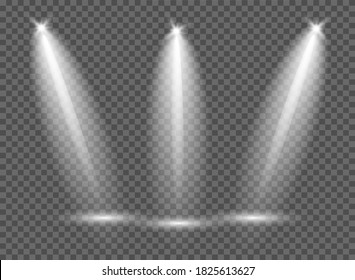stage lighting with. Bright lighting with spotlights. Spot lighting of the scene. Light effect. Lighting.