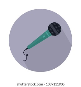 Stage microphone vector icon. filled flat sign for mobile concept and web design. Microphone flat glyph icon. Voice symbol, logo illustration. Pixel perfect vector graphics