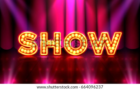 stage show show bright lighting vector stock vector royalty free