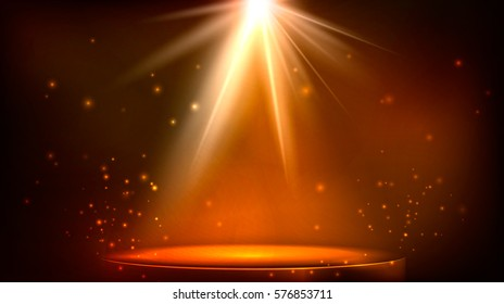 stage spot lighting. magic light. blue and purple vector background