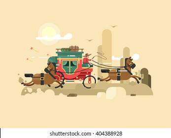 Stagecoach design flat
