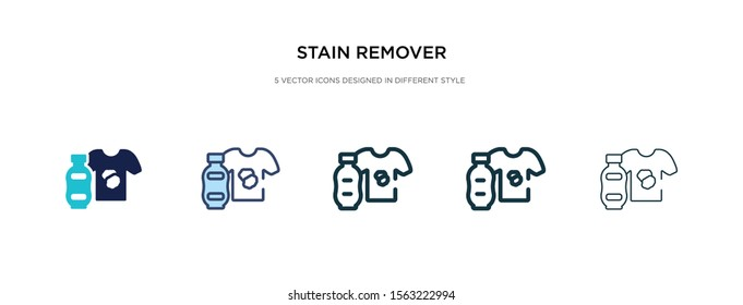 stain remover icon in different style vector illustration. two colored and black stain remover vector icons designed in filled, outline, line and stroke style can be used for web, mobile, ui