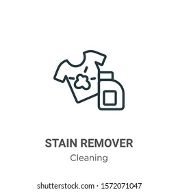 Stain remover outline vector icon. Thin line black stain remover icon, flat vector simple element illustration from editable cleaning concept isolated on white background