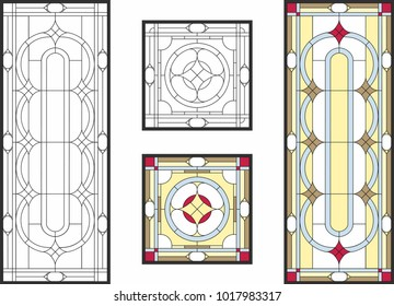 Stained Glass Pattern Images Stock Photos Vectors Shutterstock