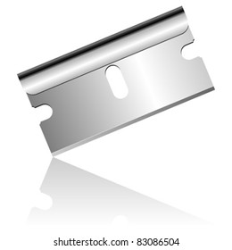 Stainless steel blade isolated over white background