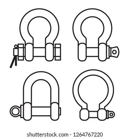Stainless Steel Rigging Shackles
