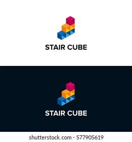 Stair cube logo