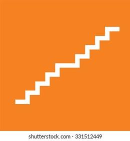 Stair icon on orange background