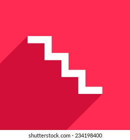 Stair icon on pink background