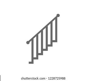 Stair railing vector illustration.