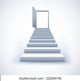 Staircase business step to success