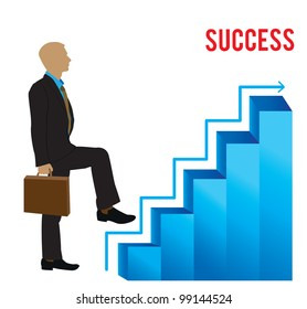 staircase of the success - vector illustration