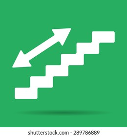 staircase symbol. Flat design style. EPS 10