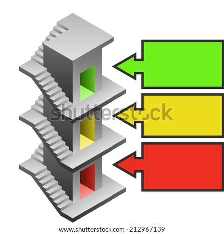 staircase tower building development template illustration stock