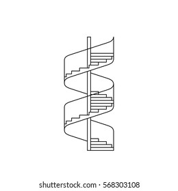 staircase vector image in a linear fashion