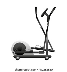 Stairmaster Fitness Machine Icon Graphic Isolated Vector