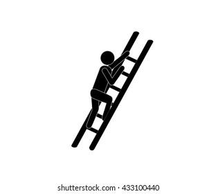 Stairs, climbing, walking icon vector image. Can also be used for activities. Suitable for use on web apps, mobile apps and print media.