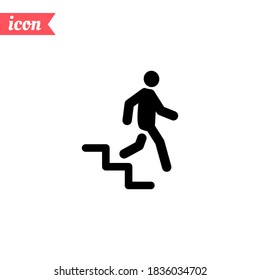 Stairs Down icon. Vector illustration EPS 10.