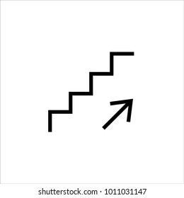 Stairs up graphic icon vector
