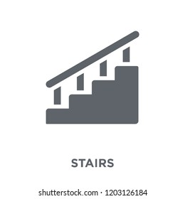 Stairs icon. Stairs design concept from  collection. Simple element vector illustration on white background.