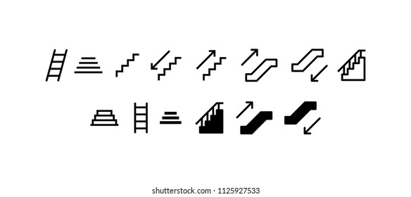 Stairs Icon Design Vector Symbol Staircase Stairway
