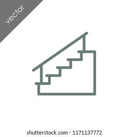 stairs icon - illustration