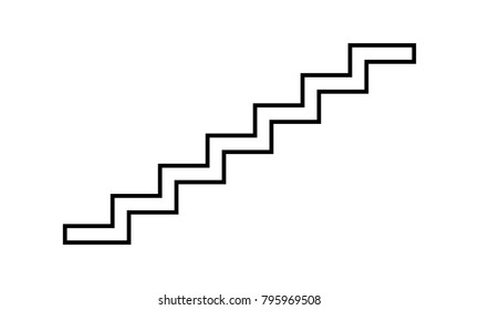 Stairs icon symbol