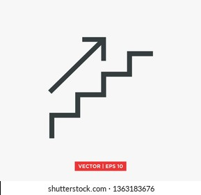 Stairs Up Icon Vector Illustration