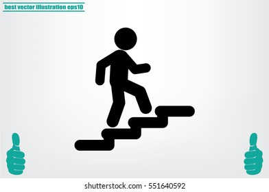 Stairs icon vector illustration eps10.