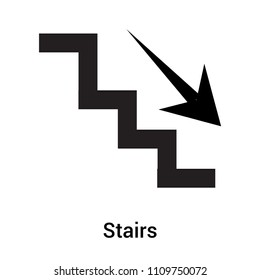 Stairs icon vector isolated on white background for your web and mobile app design, Stairs logo concept