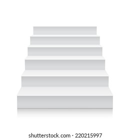 Stairs isolated on white background. Steps. Vector illustration