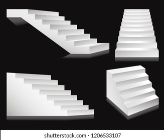 Stairs or staircases and podium ladders.
