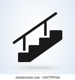Stairs Symbol Vector Illustration. Flat vector web icon