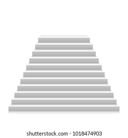 Stairs up. Vector illustration