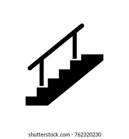 Stairs vector icon.