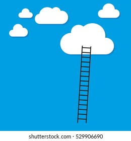 Stairway to Heaven - ladder to clouds