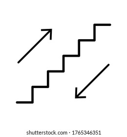 stairway icon for signs on a white background. vector EPS10