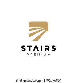 Stairway, upstairs logo symbol vector illustration