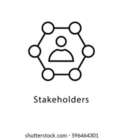 Stakeholder Vector Line Icon