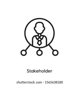 stakeholder vector line icon. Simple element illustration. stakeholder icon for your design. Can be used for web and mobile.