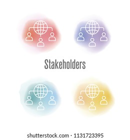 Stakeholders Icon Concept