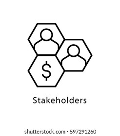 Stakeholders Vector Line Icon