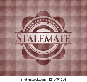 Stalemate red geometric badge. Seamless.