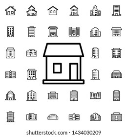 Stall icon. Universal set of buildings for website design and development, app development