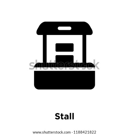 Exhibition Stall Icon : Stall icon vector isolated on white stock vector royalty free