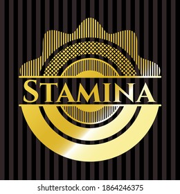 Stamina gold badge or emblem. Vector Illustration. Detailed.