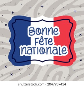 stamp with bonne fete nationale