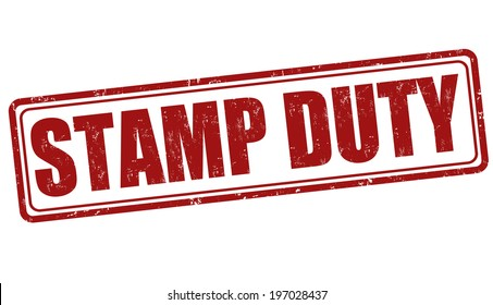 Stamp duty grunge rubber stamp on white, vector illustration