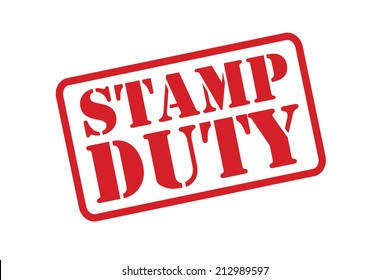 STAMP DUTY red Rubber Stamp vector over a white background.
